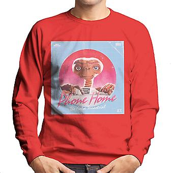 E.T. Phone Home Galactic Background Men's Sweatshirt