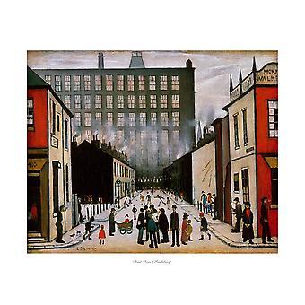 Straßenszene (Pendlebury) Poster Print von LS Lowry (24 x 20)