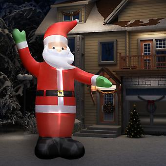 Inflatable Santa Claus with LEDs Christmas decoration IP44 4.5 m