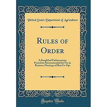 Règles de l'ordre