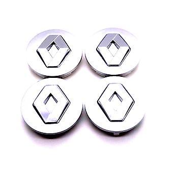 Grey Renault Car Wheel Center Caps Hub Cover 60mm 4 PCS For Megane, Laguna, Espace, Scenic, Clio