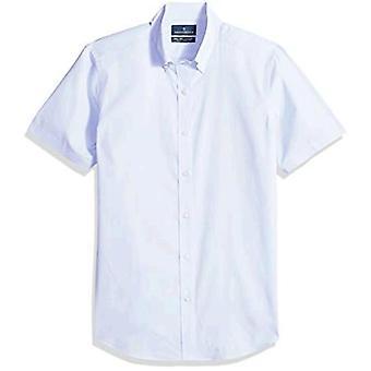 BUTTONED DOWN Männer's Tailored Fit Stretch Button-Collar Kurzarm Nicht-Eisen ...