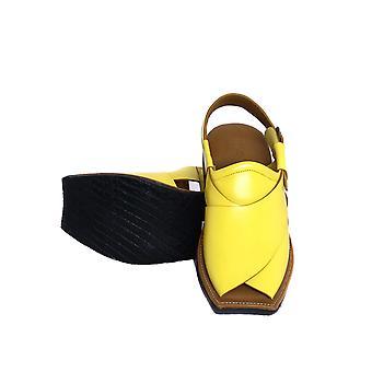 Mens Leather Fisherman Tire Sole Sandal
