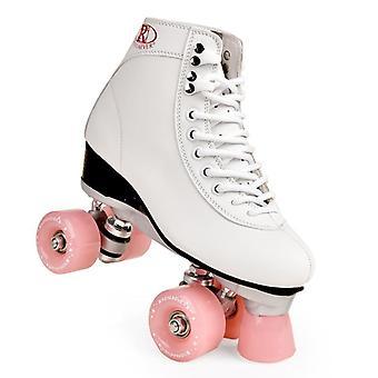 Dames's Classic Retro 4 Wielen Quad Roller Skates Schoenen