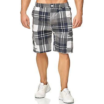 Men's Shorts Plaid Bermuda Cargo Pattern Capri Vintage Checked Trousers Casual