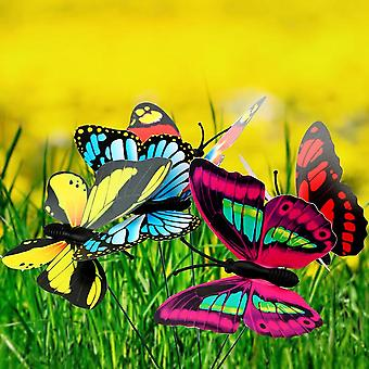 Colorful Butterfly Stakes Flower Pots Decoration Home Improvement With Pile