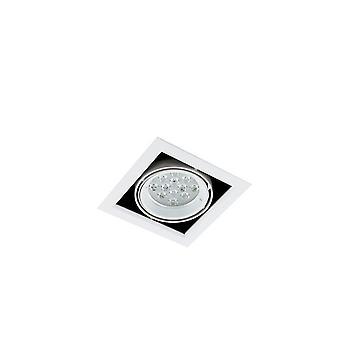 Moderne technische LED verzonken plafond wit, warm wit 3000K 960lm