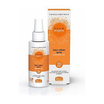 Vogliadisole Respect - Sun Milk Spray Moisturizing Velvety High Protection SPF 30 Face And Body 100 ml