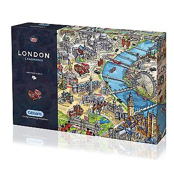 Gibsons Jigsaw Puzzle London Landmarks 1000 pieces British Themes
