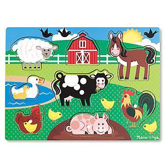 Fazenda de Quebra-Cabeças Melissa & Doug Peg
