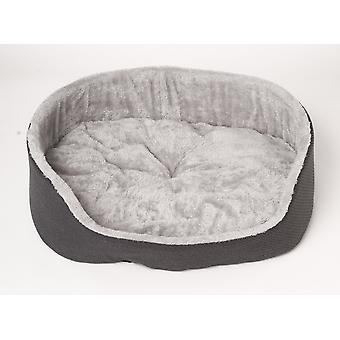 Cat and dog basket Faye - Anthracite Grey - Size L