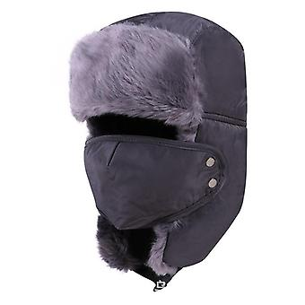Winter Bomber Hats/women - Thicken Balaclava Cotton Fur Winter Earflap Warm