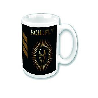 Soulfly Mug prophecy Band Logo novo oficial White Boxed