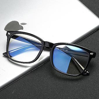 Blå ljus blockerande glasögon, glasögon ram, Oversize Square Optical