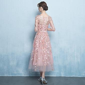 Short Prom Elegant Pattern Illusion Party Dress