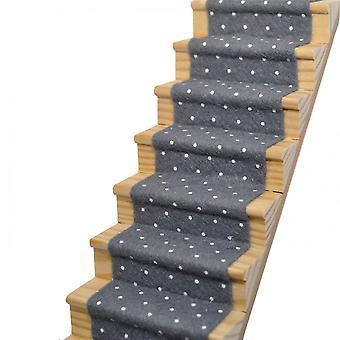 Poppenhuis Leid grey gespot trap tapijtloper zelflijmd 1:12 Vloeren