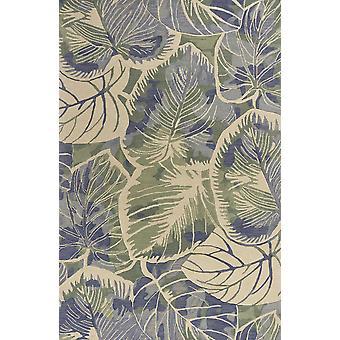 3' x 6' Uld blå eller grønt område tæppe