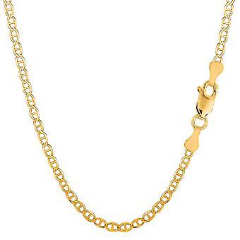 """14K geel gouden gevulde solide Mariner Chain Bracelet, 3.2 mm, 8.5"""""""