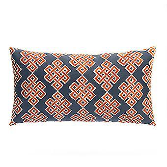 "Bounds Decorative Chenille Lumbar Pillow 22"" X 12"",  Orange"