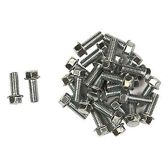 Bike It Carbon Steel Flange Head Bolts M6 x 12mm (25Pcs)