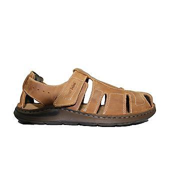 Josef Seibel Maverick 01 Brown Leather Mens Fisherman Sandals