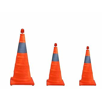 Telescopic Folding Road Cone Barricades Warning Sign, Reflective Oxford Traffic