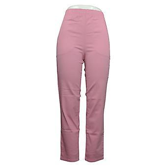Denim & Co. Dames Broek Stretch Jeans Met Zakken Roze A271388