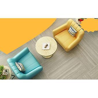 Lederen bank voor thee dessert winkel, dubbele kaart slot-sofa tafel