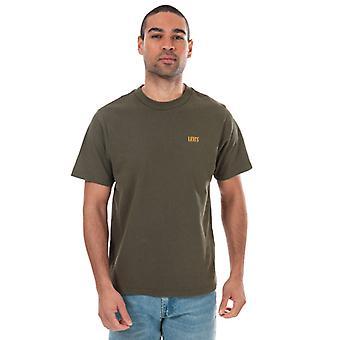 Menn's Levis Avslappet Mock Neck T-skjorte i grønn