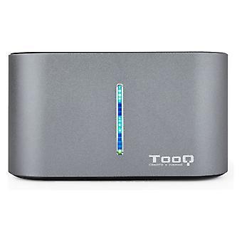 """Dual Dock Station Tooq TQDS-805G 2,5""""-3,5"""" HDD/SSD SATA USB 3,0 Grå"""