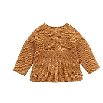Baby Solid Knitted Autumn Winter Sweaters Pullovers