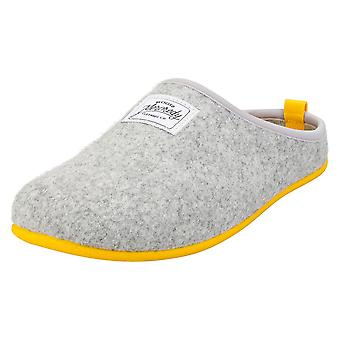 Mercredy Slipper Grey Yellow Womens Slippers Shoes in Grey Yellow