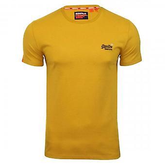 Superdry OL Vintage Camiseta Bordada Ochre Gold FK7