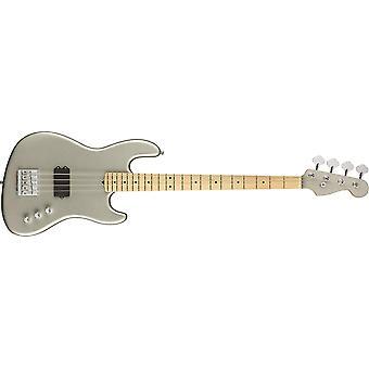 Fender flea jazz bass active inca silver w/aguilar obp-1 preamp w/hardshell case