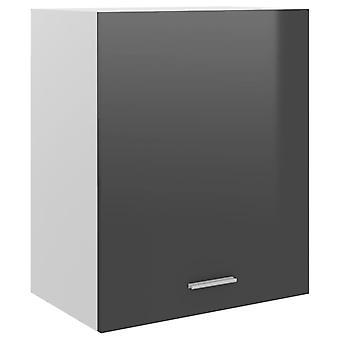 Hängeschrank Hochglanz Grau 50x31x60 Cm Spanplatte