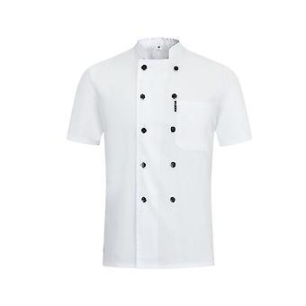 Dubbelknäppt kortärmad uniform