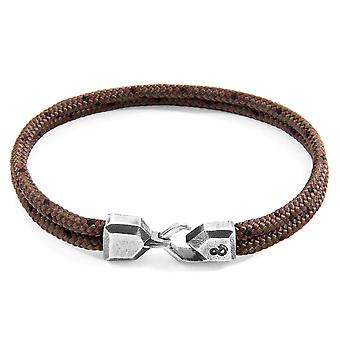 Braun Cromer Silber & Seil Armband