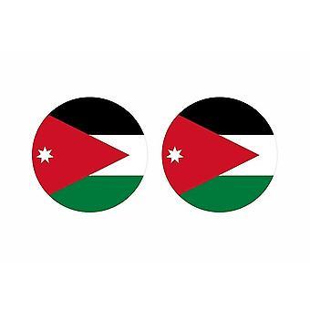 2x stick klistermärke rund cocarde flagga jordanien