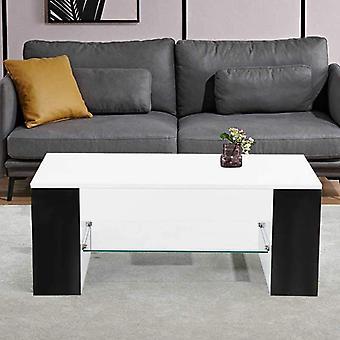 Modernin tyylin olohuone tee sohvapöytä sivuvarastoteline keskilasi