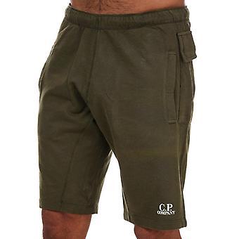 C.p. company men's green light fleece jog shorts