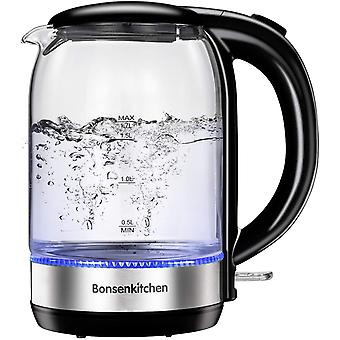 Gerui Glass Electric Kettle,1.7L Fast Boil Water Kettle with Illuminated LED, Auto-Off Boil-Dry
