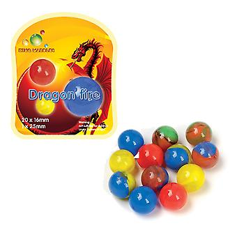 21 Dragon Fire Themed Marbles Gift for Kids