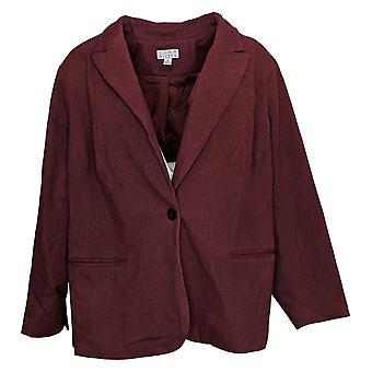 Joan Rivers Dames Plus Suit Jacket /Blazer Classic Signature Rood A390289