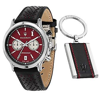 Men's watch, LEGEND collection, in steel, leather, with key chain - R8871638002