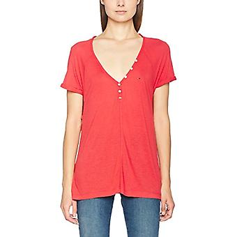 Hilfiger Denim Henley T-Shirt, Red (Bittersweet 665), XX-Small Woman