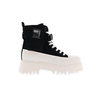 Bronx Groov-y Kangas Musta Valkoinen Valkoinen 47345NOFF kenkä