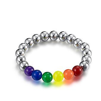 Lgbt قوس قزح سوار فخر مثلي الجنس مثليه مطرز حزام اليد المجوهرات