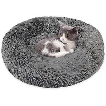 Haustierbett Flauschige Plüsch Hundebett Rund Weiche Warme Katzenbett rutschfest für Katzen Hunde