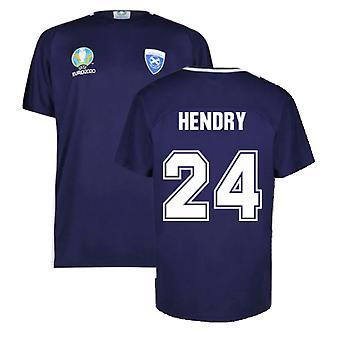 Scotland 2021 Polyester T-Shirt (Navy) (Hendry 24)