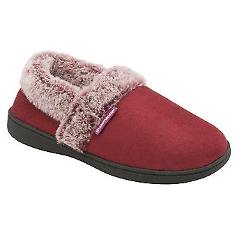 Dunlop - ladies cameroon fluffy slippers